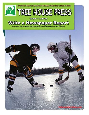 A free grade 7 integrated process writing lesson: Write a Newspaper Report.