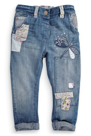 Patch Embellished Jeans (3mths-6yrs)