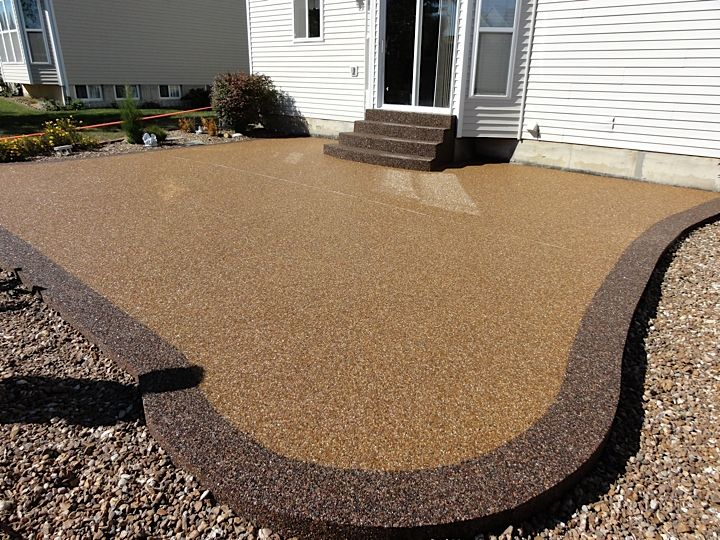 1000 images about pebbles with epoxy on pinterest epoxy pebble floor and flooring Exterior concrete floor coatings