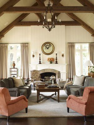 24 best images about living room on pinterest lots of for Exposed beam ceiling living room