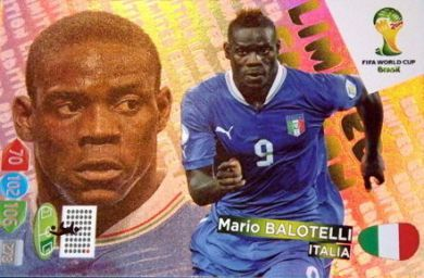 Adrenalyn XL World Cup Brazil 2014 Mario Balotelli Argentina Limited Edition Trading Card