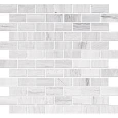 Polished Wooden White Limestone Mosaic - 1 inch x 2 inches Home Depot Canada