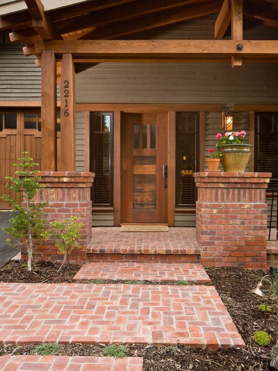 Wood Side Porch ~ Best images about craftsman style on pinterest