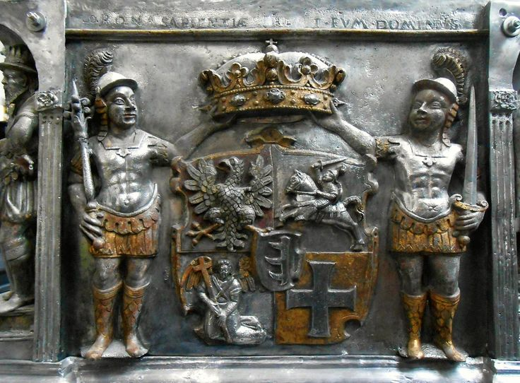 Fragment of tin sarcophagus of Stephen Báthory by Daniel Gieseler I in Gdańsk, before 1588, Katedra na Wawelu