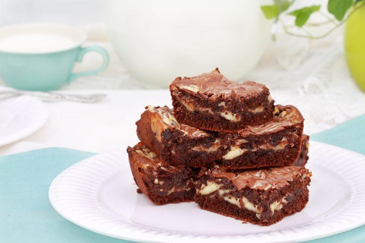 Dvojfarebné čokoládové brownies