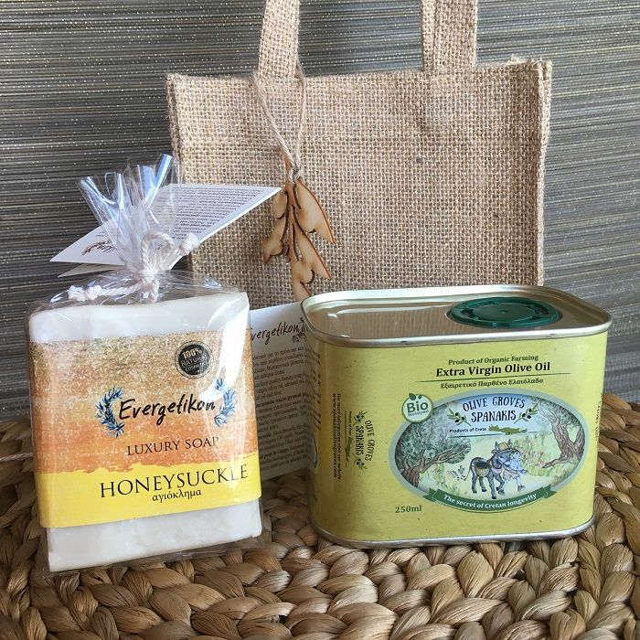 Gift Set Olive Oil & Natural Olive Oil Soap