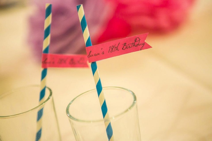 Paper straws & flag toppers