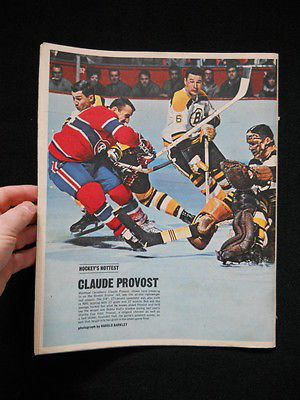 *RARE COMPLETE MAGAZINE*1966 Star Weekly with CLAUDE PROVOST Hockey's Hottest