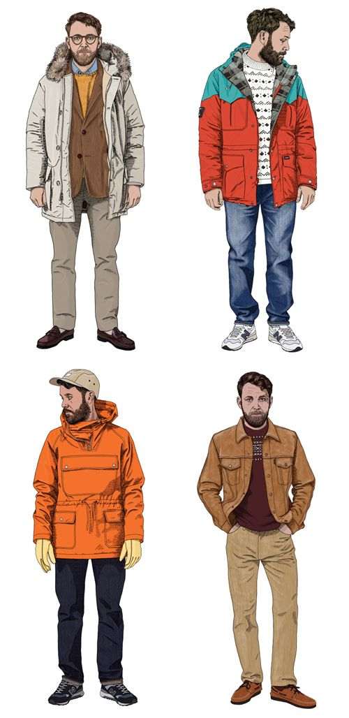 fashion illustrations - men