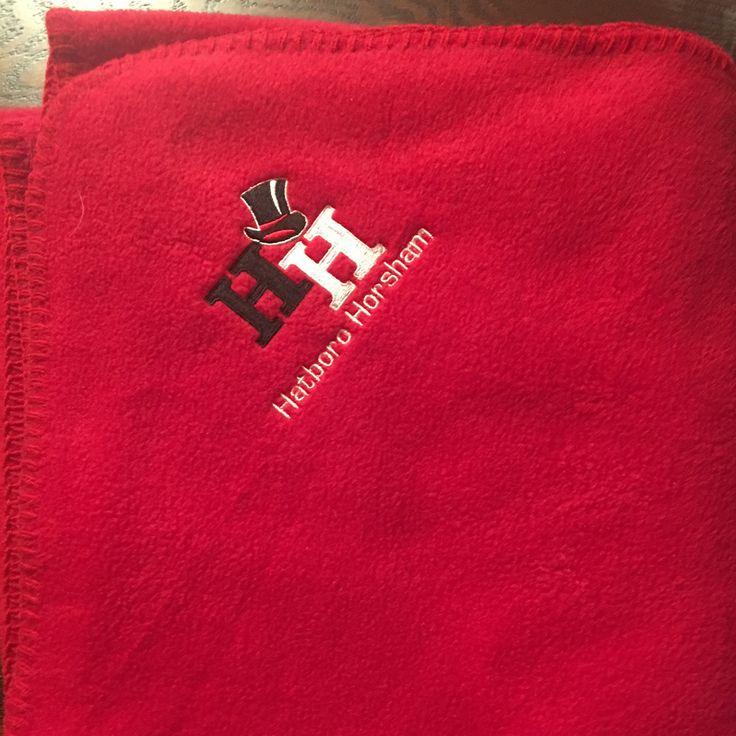 Hatboro-Horsham Embroidered Fleece Throw