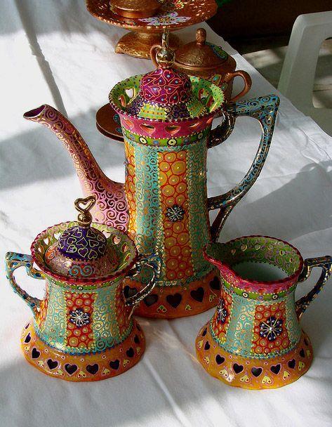 Whimsical Bohemian Tea Set by Nini Violette