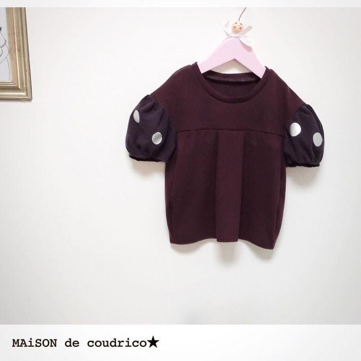 2016.10.5   MAiSON de coudrico   Autumn collection   シルバードットのぷっくりトップス サイズ.3Y こっくりワインカラーとパープルのカットソー生地 日本製です パープルのお袖にはシルバーのドットをプリントしてます 身頃もお袖もぷっくりと可愛いシルエットです   @maison_de_coudrico  http://ift.tt/2cNltMn  にてオーダー承ります(oo)  #coudrico #kidsfashion #kidsstyle #kids #handmade #girl #fashion #craft #art #minne#designforkids #artwork #creator #designer #ig_life#fashionphotography #ig_design #instagood #minne #creema#デザイン #ファッション #コーデ #子供服 #キッズファッション #キッズコーデ #アート #ドット