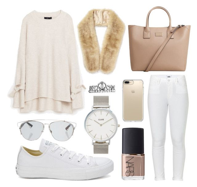 white winter by ann-machado-ii on Polyvore featuring Paige Denim, Converse, MANGO, CLUSE, Miss Selfridge, Speck, Christian Dior and NARS Cosmetics