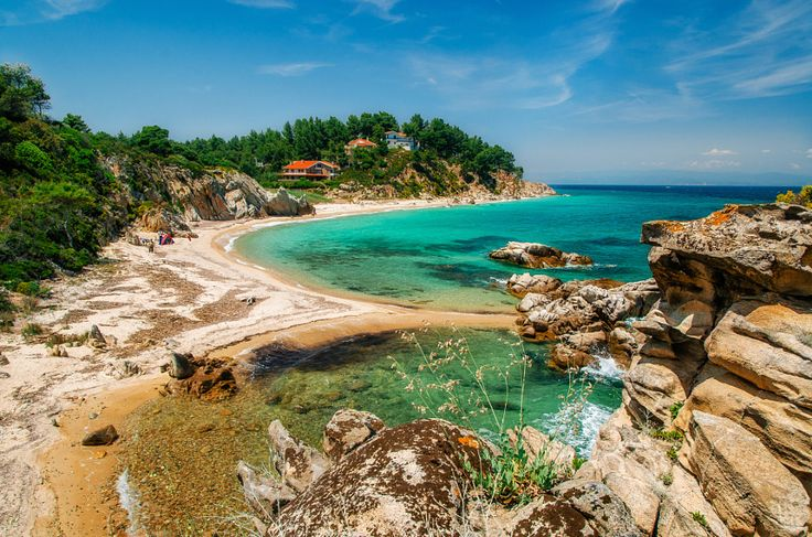 Wild beach in Vourvourou, Sithonia, Greece by Andrei Bortnikau - Photo 159760833…