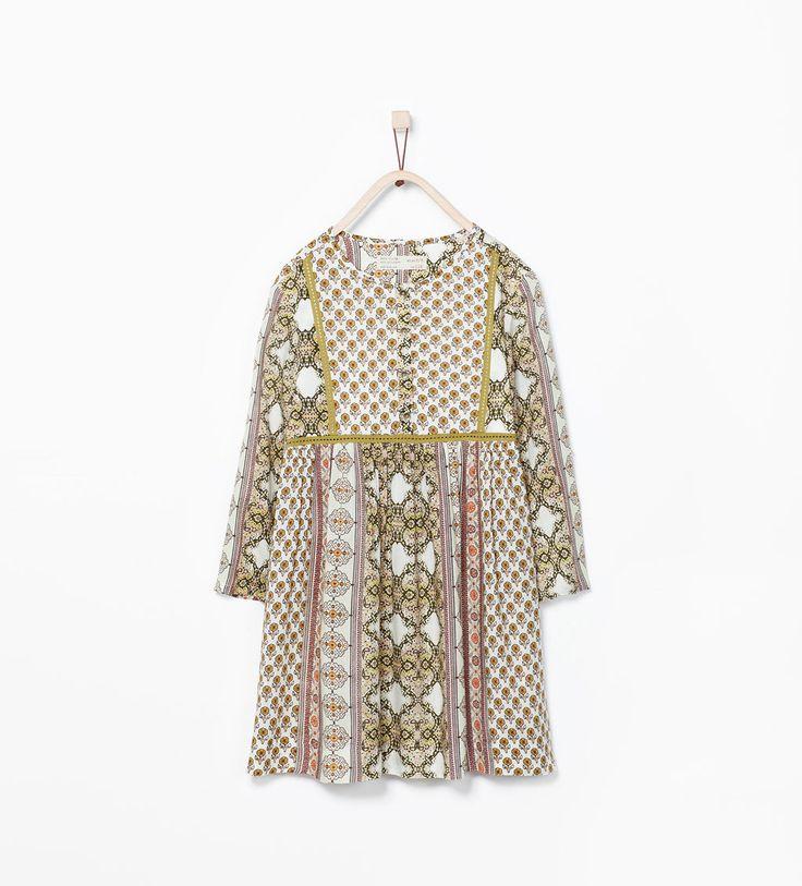 PRINTED DRESS-Dresses-Girl (3-14 years)-KIDS | ZARA United States