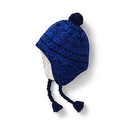 f7df5d962b2 Lands  End - Blue kids  peruvian knit bobble hat
