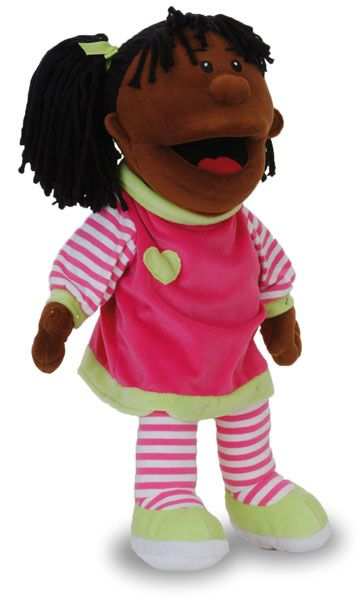 This beautiful girl hand puppet is an amazingly designed quality fabric hand puppet that comes with mouth moving features.  Great for role p...