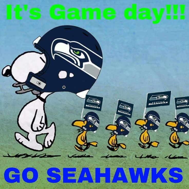 Game Day. Go Hawks!