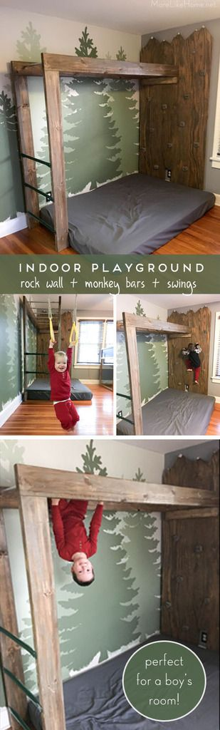 Our big gift for our boys this Christmas was in indoor mountain climbing rock wall, right in their own bedroom. It's nothing too big or elab...