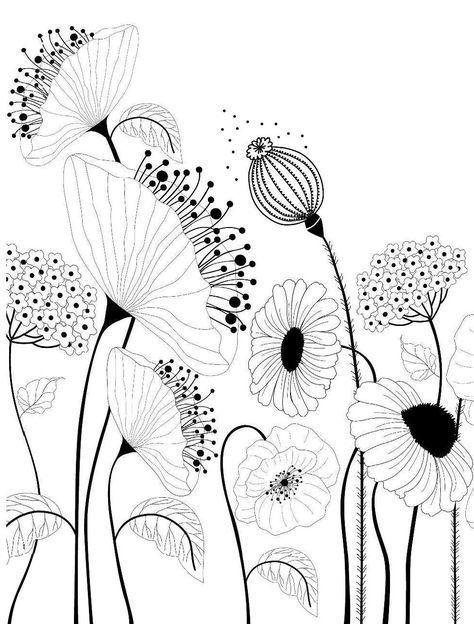 Zeichnungen – Blumen Garten