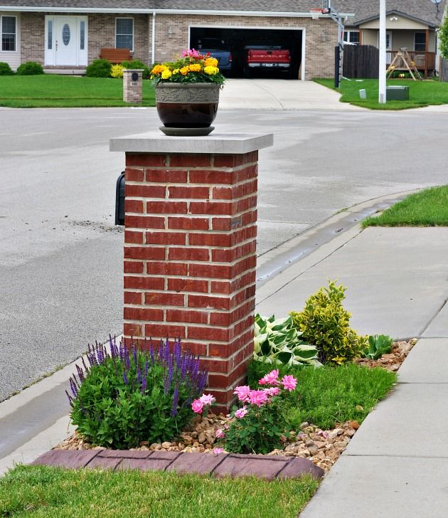 Landscaping After Border Creations Mailbox Border