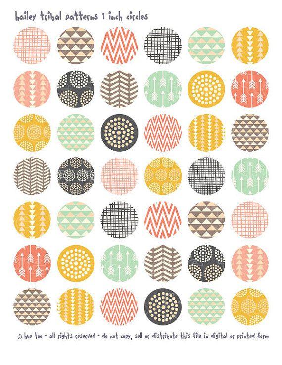 motifs tribaux filles 1 cercles cercles 1inch imprimable par huetoo