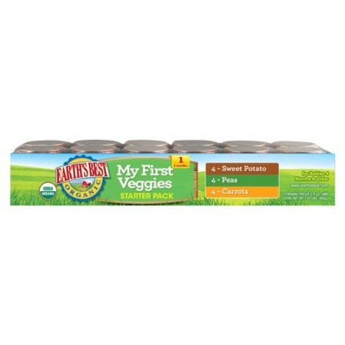 Earth's Best Organic My First Veggies Baby Food Starter Pack, 2.5 Ounce, 12 Jars $8.09