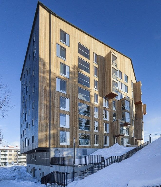 Puukuokka Housing in Jyväskylä by Anssi Lassila has won the Finlandia Prize for Architecture: