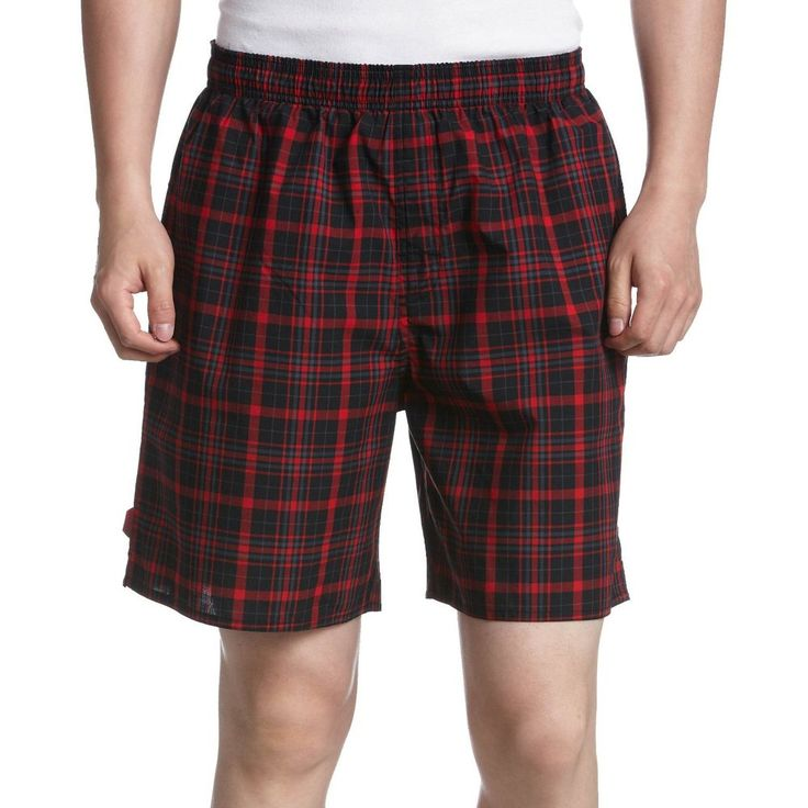 Adidas Da Uomo Misura UK XS 28  Vita Rosso a Quadretti I Pantaloncini Bagno
