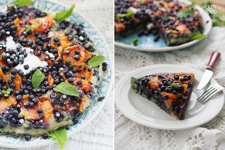 Пирог с абрикосами и черникой в сковороде (Готовлю с помощью посуды iCook™) - HAPPYFOOD