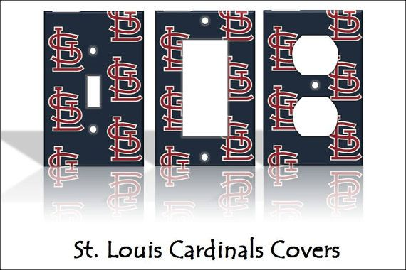 St. Louis Cardinals - Baseball MLB - Sports Light Switch Covers Cartoon Kids Home Decor Outlet College Nursery Man Cave Custom