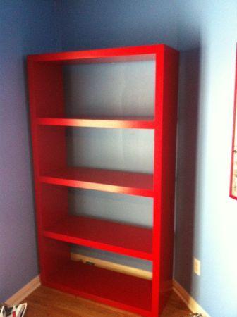 رف كتب احمر من ايكيا موقع موسوعة الصور Diy Kitchen Bookcase Home Decor
