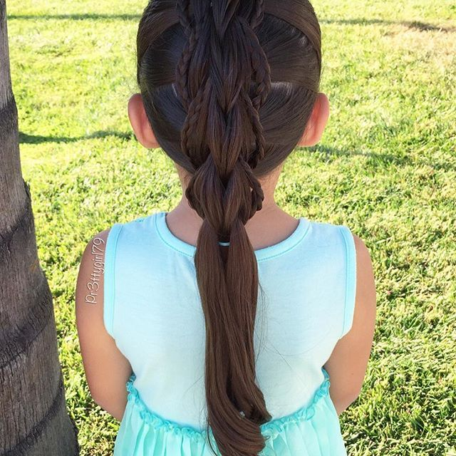 "✨""In a world where you can be anything, be kind.""✨ . 3 strand pull through braid with micro-braids 💠 Hope you have a lovely weekend!! . #pr3ttyhairstyles #3strandpullthroughbraid #braidsforlittlegirls #cghphotofeature #sweetheartshairdesign #pullthroughbraid #beyondtheponytail #Trenza #braid #abc7eyewitness #hotd #braidsforgirls"
