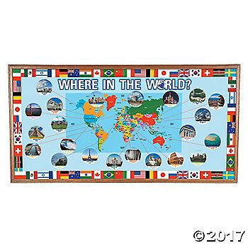 Looking for classroom tools for geography lessons? Add this Around the World Bulletin Board Set to your classroom supplies for a fun and interactive learning ...