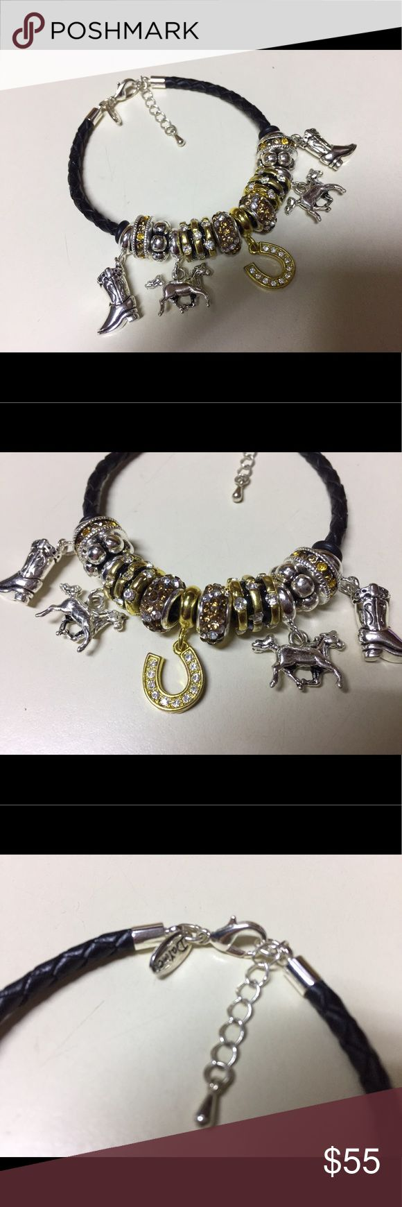 Davinci charms bracelet - Authentic Davinci Equestrian European Bracelet Perfect For Horse Lovers This Bracelet Is Designed From