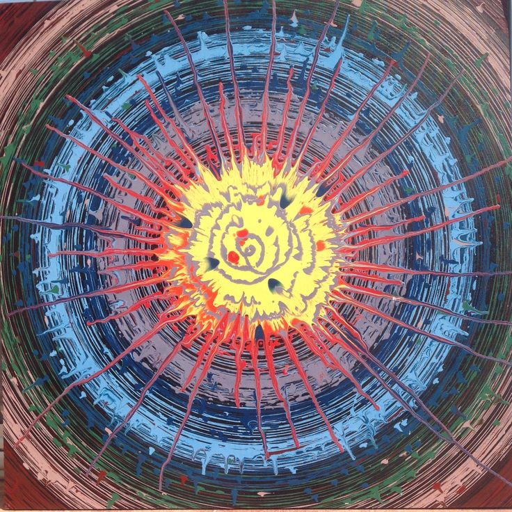 "Emin Özdemir — ""Big-bang"" rotational oscillation, acrylic paint,..."