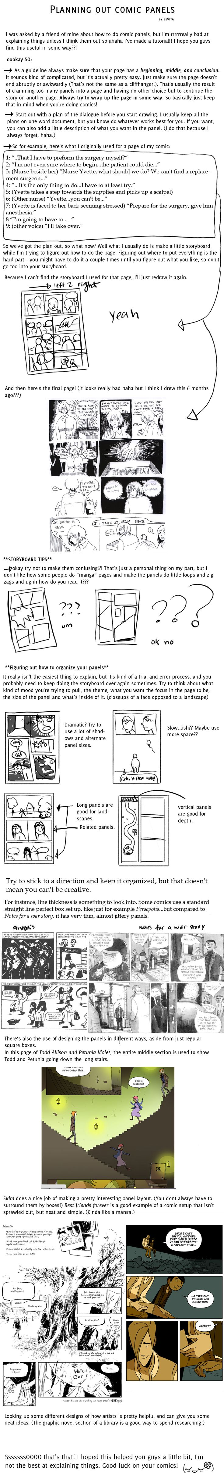 Tutorial: Planning out comic panels by zombieandrobot.deviantart.com on @DeviantArt