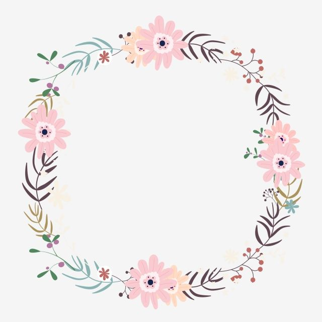Simple Flower Garland Flower Clipart Color Flowers Png Transparent Image And Clipart For Free Download Flower Clipart Flower Wreath Illustration Simple Flowers
