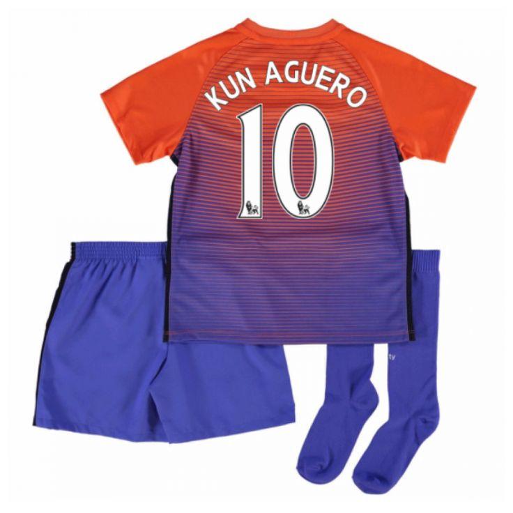 2016-17 Manchester City Third Mini Kit (Kun Aguero 10) #Sport #Football #Rugby #IceHockey