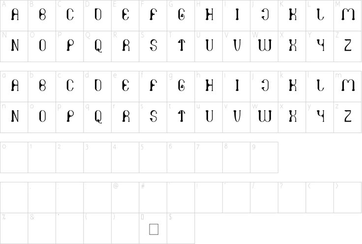Character Map  Letters    Fonts