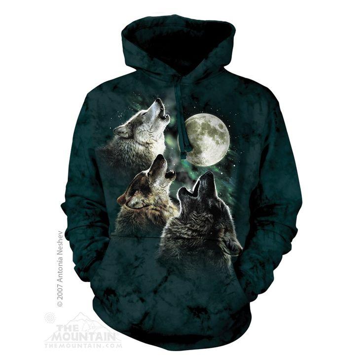 Three Wolf Moon felnőtt zsebes kapucnis pulóver