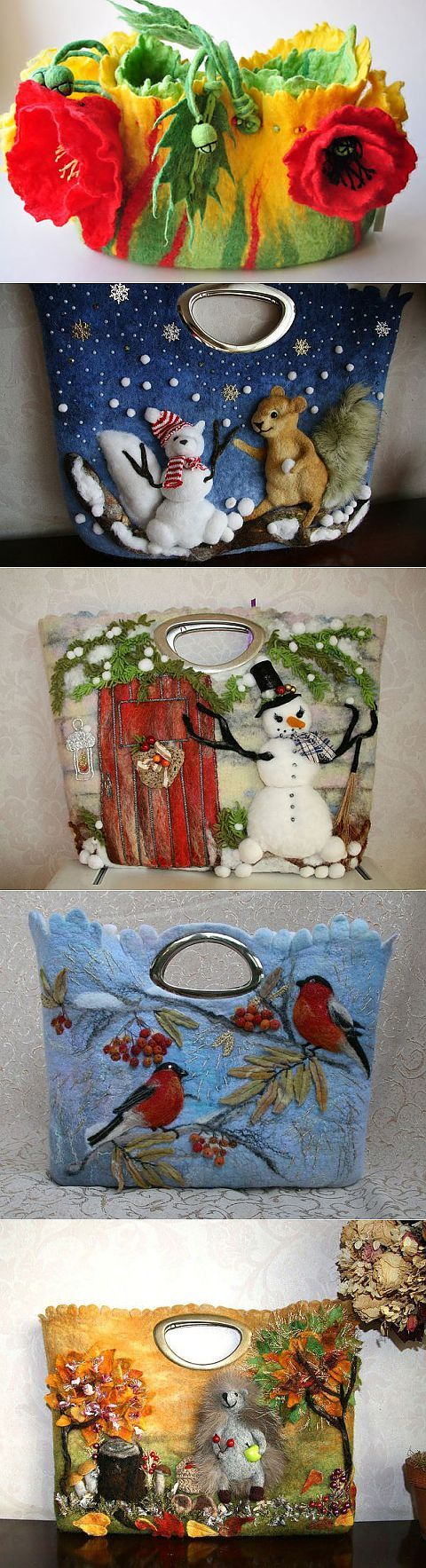 (1) theme - the Incredible bag with your hands (felting, filting) | crazy hands