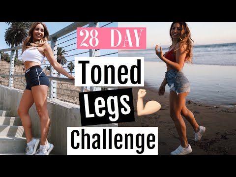 28 day toned legs challenge// fitness challenge 2018