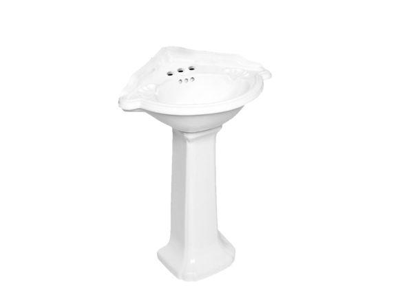 Lavabo pour piédestal en coin 25 pouces x 22 pouces - Piédestaux - Lavabos et vasques - Salles de bain - Produits - Bain Dépôt