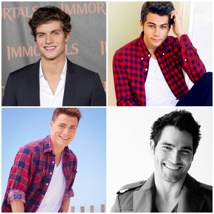 Daniel,  Dylan,  Colton, and Tyler!  Teen Wolf boys - only missing Tyler Posey!