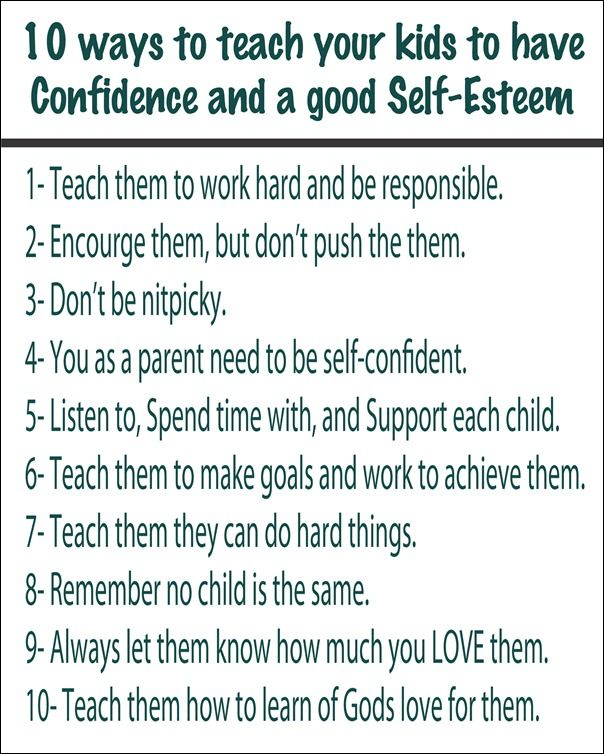 10 Ways To Teach Your Kids To Have Confidence & Self-Esteem via @thethingsilove #healthyhabits #cgc