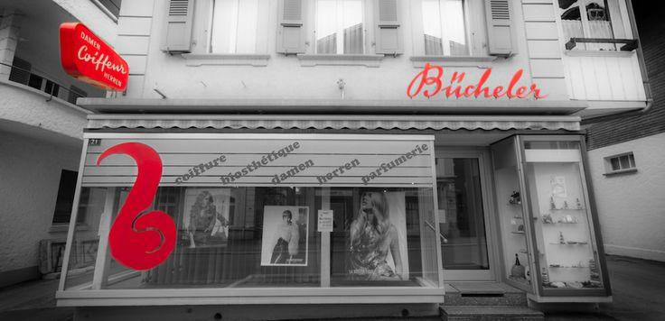 Front door of Coiffure Bücheler - Meiringen