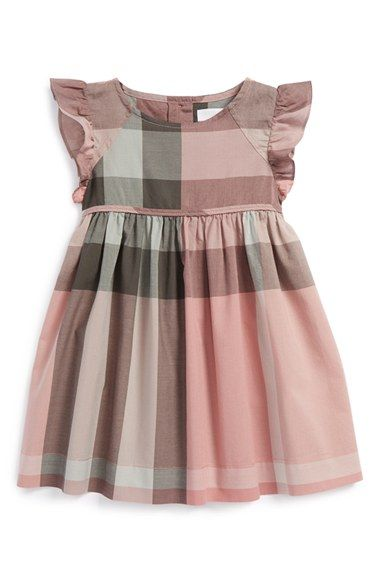 Burberry Cap Sleeve Dress (Baby Girls) available at #Nordstrom