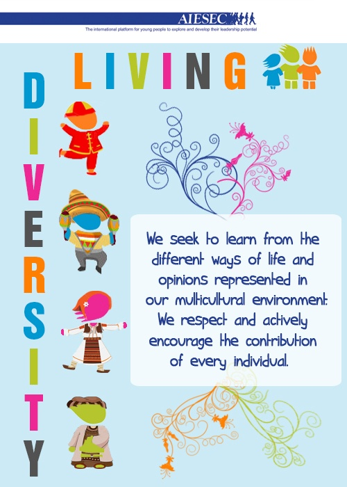AIESEC Value: LIVING DIVERSITY