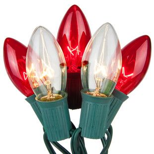 C9 Red / Clear Commercial Christmas Lights